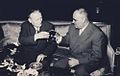 1961 Vizita delegatiei din RSF Cehoslovaca. Dej, Antonin Novotny.jpg