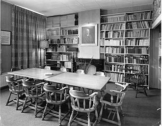 Hector Hodler Library - Reading room in the 1960s