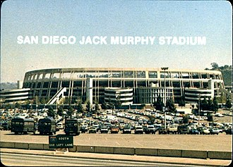 SDCCU Stadium - Exterior of then-Jack Murphy Stadium in 1984