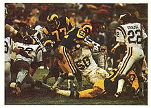 The Vikings  famed Purple People Eaters defensive line stopping a Rams rush  in the 1977 NFC Divisional Playoff game. bf02ef90a