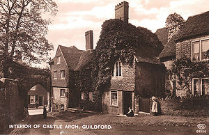 Guildford Museum - Castle Arch in the 19th Century