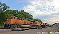 1 3 BNSF 7199 Leads WB 15,901 foot long Intermodal Olathe, KS 5-16-17 (34043720693).jpg