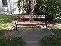 1 Rákóczi Road, Louis Szathmary bench, 2020 Sárospatak.jpg