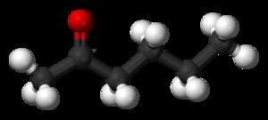 2-Hexanone - Image: 2 Hexanone 3D balls