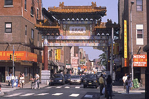 Chinatown district of Philadelphia, Pennsylvania.