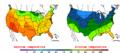 2002-09-25 Color Max-min Temperature Map NOAA.png
