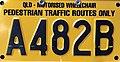 2002 Queensland registration plate A482B motorised wheelchair.jpg