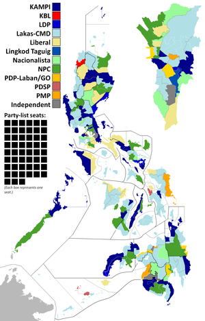 Philippine House of Representatives elections, 2007 - Image: 2007Philippine House Elections