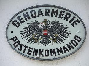 Gendarmerie (Austria) - Illuminated panel of a Gendarmerie station