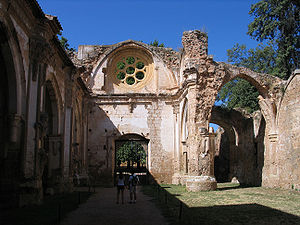 Monasterio de Piedra - Ruins of the monastery's main church