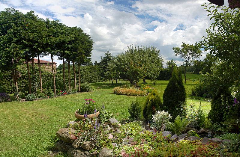 duzy ogród
