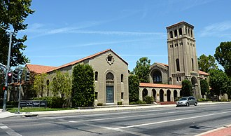 Bakersfield, California - The First Baptist Church building, which survived the 1952 earthquake and is now a commercial-use structure, is one of several buildings in Bakersfield listed on the National Register of Historic Places.