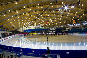 Richmond Olympic Oval - The oval during the 2009 World Single Distance Speed Skating Championships