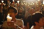 Demonstration in Hongkong zur Erinnerung an die Proteste von 1989