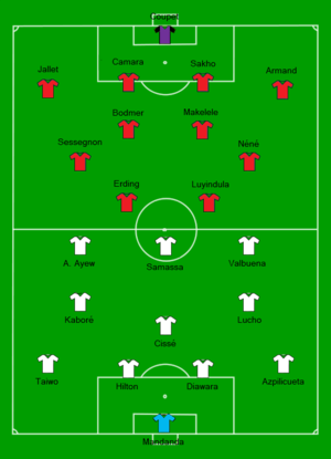 2010 French Supercup - Olympique de Marseille vs Paris SG Line-up.png