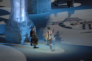 2010 Winter Olympics opening ceremony - One of the four welcomes delivered by the First Nations representatives