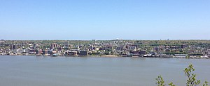Yonkers, New York - View of Yonkers from the New Jersey Palisades in 2013