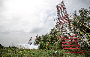 Amateur rocketry - Rocket Festivals are an old tradition at the beginning of the wet season in certain parts of Laos and Thailand