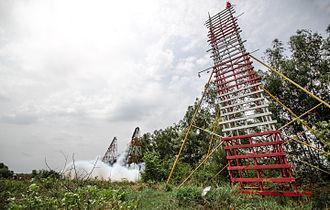 Rocket Festival - Phaya Thaen Park Saen launch racks, Yasothon, Thailand