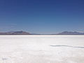 2014-07-05 13 01 31 View north-northwest across the Bonneville Salt Flats, Utah from the Bonneville Salt Flats Rest Area on Interstate 80.JPG