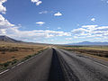 2014-08-09 15 51 03 View west along U.S. Routes 6 and 50 about 77.6 miles east of the Nye County line in White Pine County, Nevada.JPG