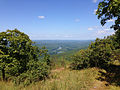 2014-08-25 14 09 18 View north towards the Delaware River from the Appalachian Trail about 6.0 miles northeast of the Delaware Water Gap in Worthington State Forest, New Jersey.JPG