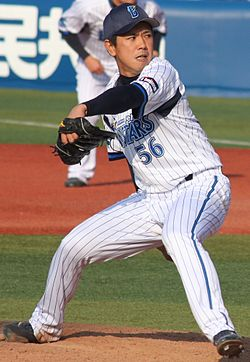 20140316 Shuichirou Osada, pitcher of the Yokohama DeNA BayStars, at Yokohama Stadium.JPG