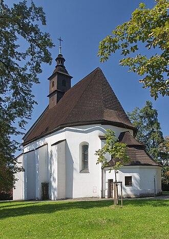 Frýdek-Místek - Image: 2014 Frydek Mistek, Kościół św. Jodoka 08