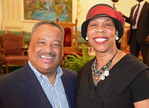 Luter and wife at Temple Chapel Baptist Church in Kentwood, Louisiana