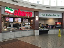 2015-05-11 16 22 23 Sbarro restaurant at the Commodore Perry Service Plaza along the Ohio Turnpike (Interstates 80 and 90) in Riley Township, Sandusky County, Ohio.jpg
