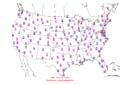 2015-10-04 Max-min Temperature Map NOAA.png