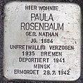2015-11-21 Neustadt am Rübenberge Stolperstein Rosenbaum Paula (cropped).jpg