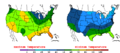 2016-04-13 Color Max-min Temperature Map NOAA.png