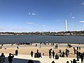 2018-04-08 10 24 01 View north towards the Washington Monument from the steps of the Jefferson Memorial while the Yoshino Cherries are blooming during the 2018 Cherry Blossom Festival in Washington, D.C..jpg