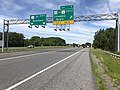 2019-05-21 11 35 50 View north along Interstate 97 (Patuxent Freeway) at Exit 7 (Maryland State Route 32, TO Maryland State Route 3 SOUTH, Columbia, Bowie) in Severn Crossroads, Anne Arundel County, Maryland.jpg