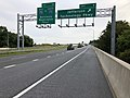 2019-08-05 08 32 02 View north along U.S. Route 15 and east along U.S. Route 340 (Jefferson National Pike) at Exit 9 (Jefferson Technology Parkway) in Ballenger Creek, Frederick County, Maryland.jpg