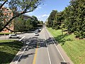 2019-08-08 16 24 30 View north along U.S. Route 29 Business (Emmet Street) from the overpass for McCormick Road within the University of Virginia in Albemarle County, Virginia.jpg