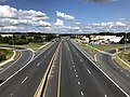 2019-08-25 15 28 00 View east along U.S. Route 40 (Pulaski Highway) from the overpass for Interstate 695 (Baltimore Beltway) on the edge of Middle River and Rossville in Baltimore County, Maryland.jpg