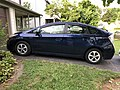 2020-06-15 19 00 26 A dark blue 2014 Toyota Prius II along Tranquility Court in the Franklin Farm section of Oak Hill, Fairfax County, Virginia.jpg