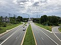 2020-08-03 15 53 38 View west along Maryland State Route 150 (Eastern Avenue-Boulevard) from the overpass for Interstate 695 (Baltimore Beltway) in Dundalk, Baltimore County, Maryland.jpg