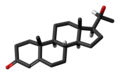 20alpha-Dihydroprogesterone 3D skeletal.png
