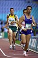 231000 - Athletics track 800m T36 final Malcolm Bennett action - 3b - 2000 Sydney race photo.jpg