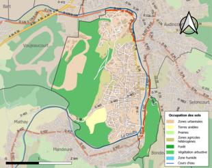 Цветная карта, показывающая землепользование.