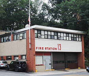 Yonkers Fire Department - YFD Station 13, the quarters of Engine 313, Ladder 73, and The Foam Unit, located on Kimball Ave.