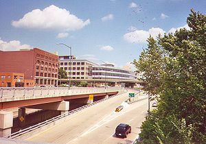 Interstate 376 - I-376 eastbound in downtown Pittsburgh.
