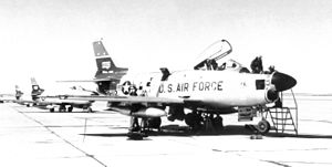 517th Air Defense Group - 37th Fighter-Interceptor Squadron North American F-86D Sabre at Ethan Allen AFB
