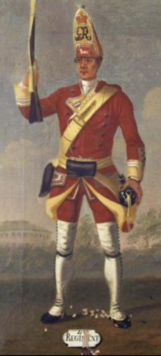 Fort Vieux Logis - 40th Regiment of Foot by David Morier, 1751