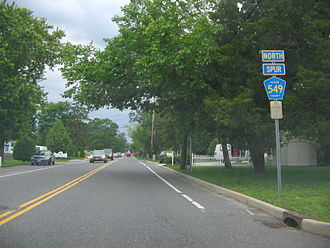 County Route 549 (New Jersey) - CR 549 Spur northbound (Herbertsville Road)