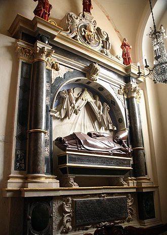 Wawrzyniec Grzymała Goślicki - Goślicki's tomb in Poznań cathedral