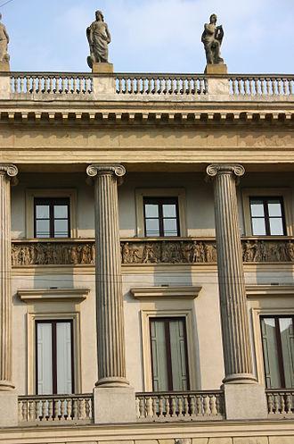 Villas and palaces in Milan - Palazzo Saporiti